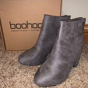 Boohoo suede grey shoes